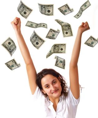 raining down money photo
