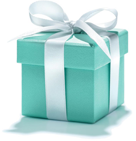 blue gift box for you photo
